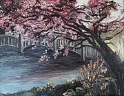 Oil Paintings - Japanese Garden by Rhonda Clapprood