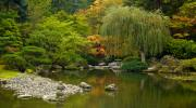 Japanese Prints - Japanese Gardens Print by Mike Reid
