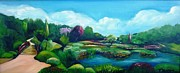 Pathway Paintings - Japanese Gardens by Therese Alcorn