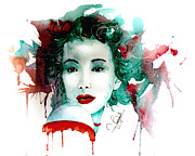 Abstract Wildlife Paintings - Japanese girl by Steven Ponsford