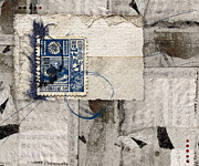 Photomontage Mixed Media - Japanese Postage 20 Sen by Carol Leigh