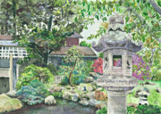 Japanese Tea Garden Paintings - Japanese Tea Garden at Golden Gate Park by Judy Fox