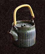 Japanese Mixed Media - Japanese Teapot by Ari Salmela