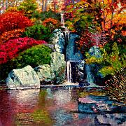 Japanese Originals - Japanese Waterfall by John Lautermilch