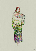 Kimono Prints - Japanese Woman dancing Print by Irina  March