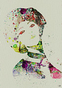 Singing Prints - Japanese woman Print by Irina  March