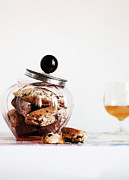 Biscotti Prints - Jar Of Biscotti On Table Print by Cultura/Line Klein