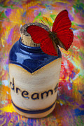 Vertical Flight Prints - Jar of dreams Print by Garry Gay