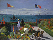 Impressionistic Paintings - Jardin a Sainte Adresse by Extrospection Art