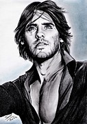 Pencils Prints - Jared LETO Print by Joane Severin