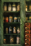Cabinet Prints - Jars - Ingredients II Print by Mike Savad