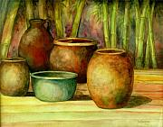 Jars Paintings - Jars Basking by Jun Jamosmos