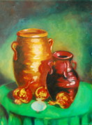 Water Jars Painting Metal Prints - Jars Metal Print by Matthew Doronila