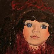 Doll Paintings - Jasmin by Jane Autry