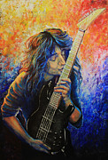 Hobbies  Painting Originals - Jason Becker by Tylir Wisdom