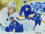 Hockey Mixed Media Prints - Jason Blake Print by Brian Child