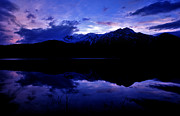 Patricia Framed Prints - Jasper - Patricia Lake At Dusk Framed Print by Terry Elniski