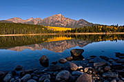 Pyramid Mountain Framed Prints - Jasper - Patricia Lake Morning 1 Framed Print by Terry Elniski