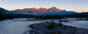 Pyramid Mountain Framed Prints - Jasper - Pyramid Mountain Panorama Framed Print by Terry Elniski