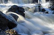 Canoe Waterfall Prints - Jasper Falls Closeup Print by Larry Ricker
