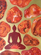 Base Paintings - Jasper Root Chakra by Jennifer Baird