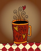 Java Love Print by Jennifer Heath Henry