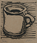 Lino Drawings - Java by William Cauthern