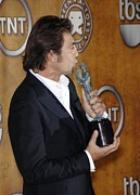 Screen Actors Guild Prints - Javier Bardem At Arrivals For Press Print by Everett