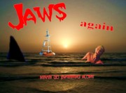Shark Digital Art Prints - Jaws again Print by Garry Staranchuk