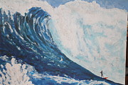 Dexterity Painting Prints - JAWS Peahi Maui Hawaii Print by Giorgia Piekarski