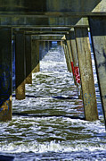 Jacksonville Digital Art Prints - Jax Beach Pier Print by Frank Feliciano