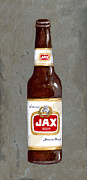 Beer Paintings - Jax Beer Bottle 2 by Elaine Hodges