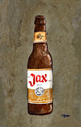 Jax Posters - Jax Beer Bottle Poster by Elaine Hodges