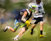 Lacrosse Paintings - Jaxx Lacrosse 1 by Scott Melby