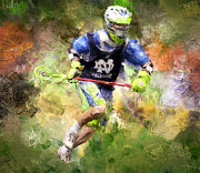 Lacrosse Paintings - Jaxx Lacrosse 2 by Scott Melby