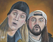 Jason Painting Posters - Jay And Silent Bob Poster by Tom Carlton