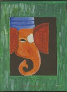 Ganapati Paintings - Jay Ganesh by Sonali Gangane