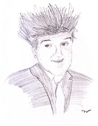 Bad Art Drawings Prints - Jay Leno hair day Print by Jose Valeriano