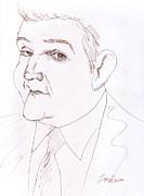Jay Leno Print by Jose Valeriano