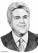 People Drawings Originals - Jay Leno by Murphy Elliott