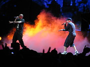 Jay Z Photos - Jay Z and Eminem by Freda Sbordoni