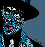 Blackart Posters - Jay Z  full color Poster by Kamoni Khem