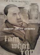 Jay Z Drawings Originals - Jay Z by Sandeep Kumar Sahota