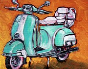Scooter Paintings - Jayne Jadeite by Sheila Tajima