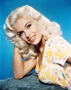 1950s Portraits Photo Metal Prints - Jayne Mansfield, 1950s Metal Print by Everett