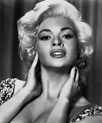 Blonde Framed Prints - Jayne Mansfield, Ca. 1950s Framed Print by Everett