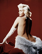 Opera Gloves Metal Prints - Jayne Mansfield, Ca. 1958 Metal Print by Everett