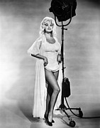 Full-length Portrait Metal Prints - Jayne Mansfield, Ca. 1962 Metal Print by Everett