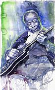 Guitarist Framed Prints - Jazz B B King 02 Framed Print by Yuriy  Shevchuk