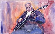 Blues Art - Jazz B B King 03 by Yuriy  Shevchuk